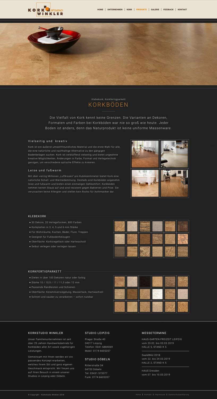Referenz Webdesign - Korkstudio-Winkler - Screenshot