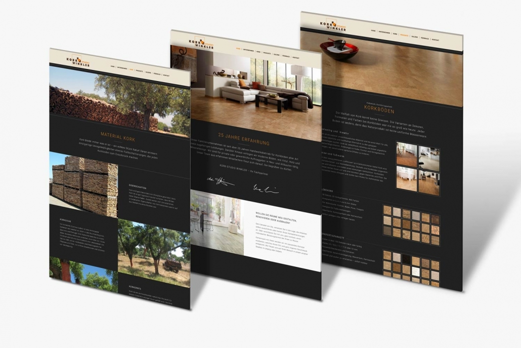 Referenz Webdesign - Korkstudio-Winkler