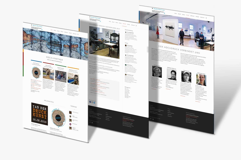 Mockup mit drei Seiten - Hochdruckpartner Leipzig