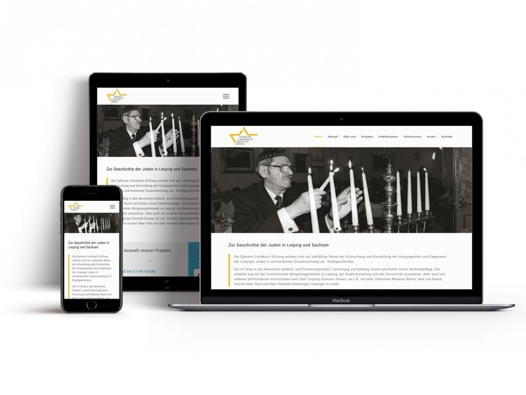 Seiteneingang Webdesign - Referenz Ephraim Carlebach Stiftung