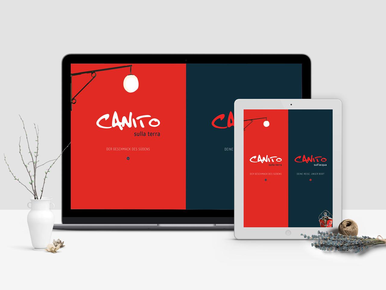 Responsive Webdesign für Restaurant Canito Leipzig - Tablet, Macbook