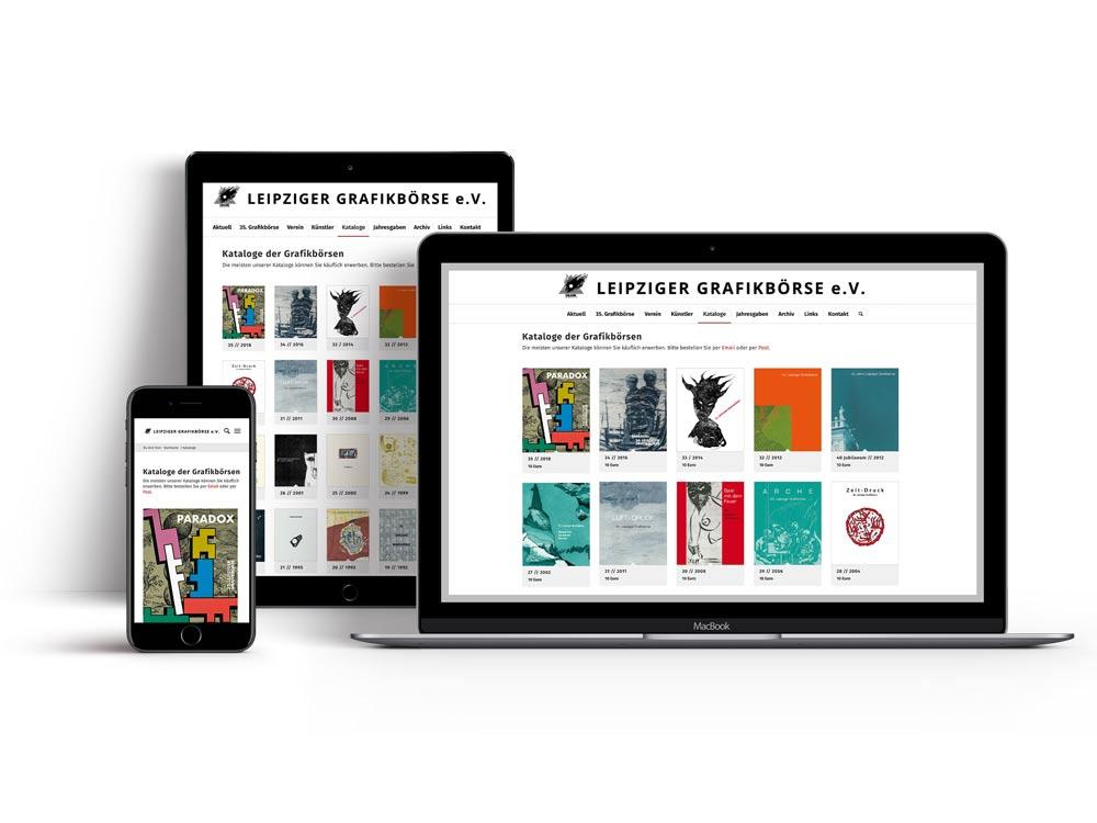 Beispiel Webdesign - Leipziger Grafikbörse